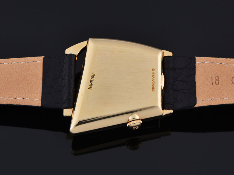 Hamilton Flight I 14K Solid Gold Watch Case Back