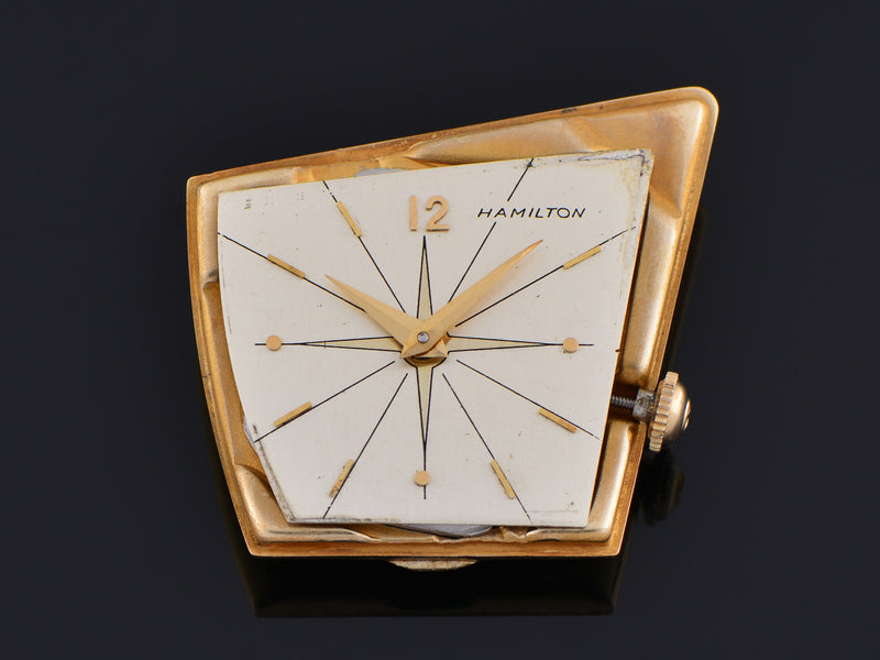 Hamilton Flight I 14K Solid Gold Watch Dial