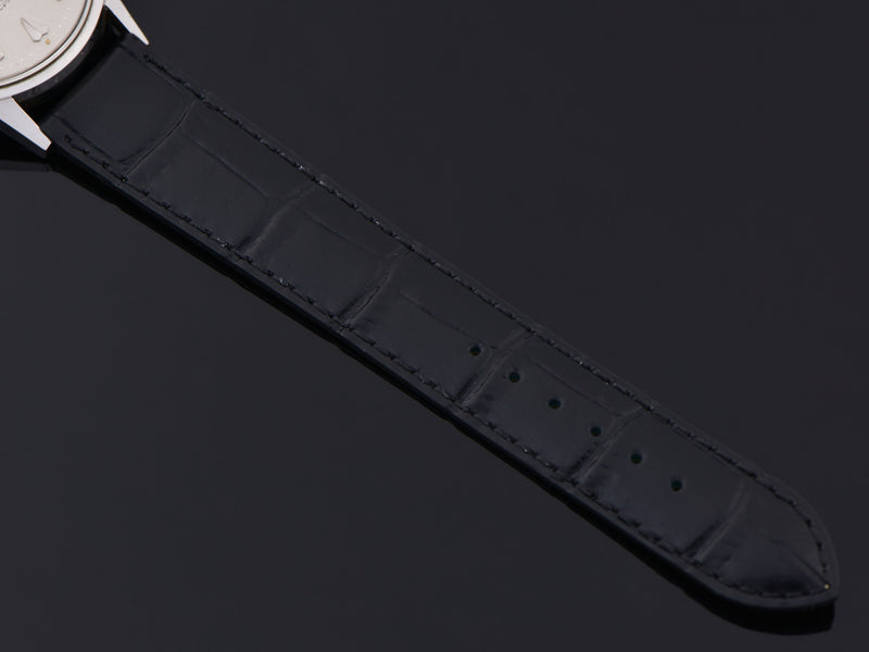 Brand New Genuine Leather Black Alligator Grain Watch Band