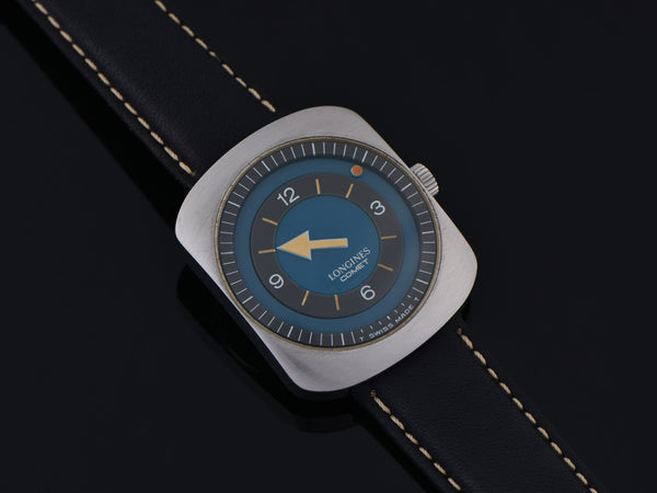 "Longines Comet ""Mystery Dial"" Watch Blue Dial"