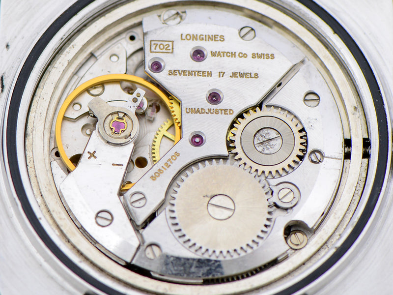 "Longines Comet ""Mystery Dial"" Watch Maroon Dial Vintage Watch Movement"