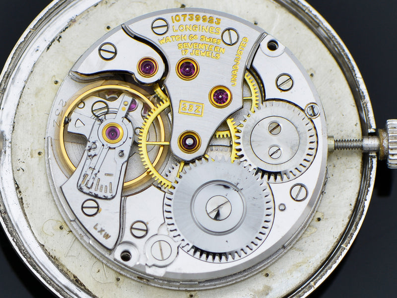 Longines Mystery Dial White Gold Filled Watch 23Z Movement