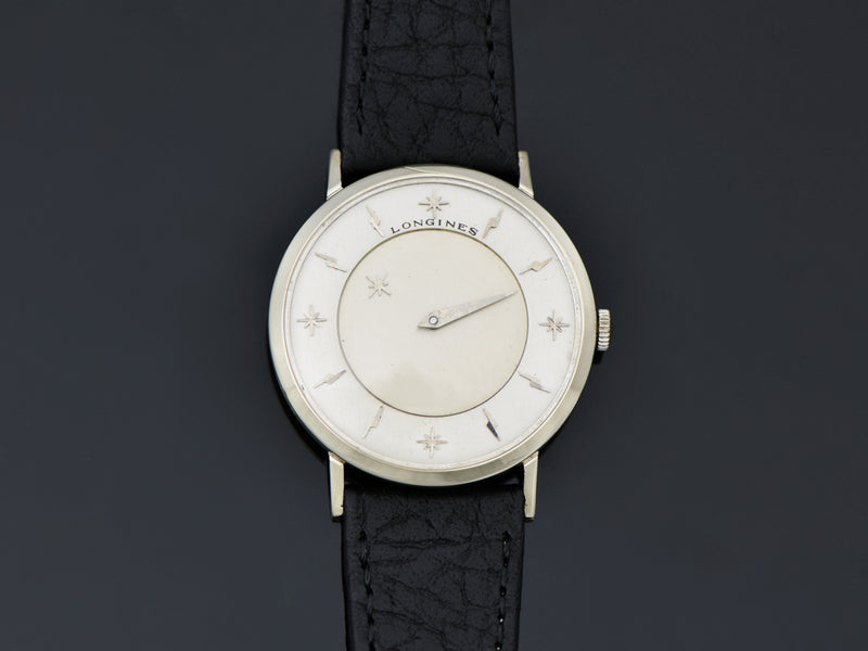 Longines Mystery Dial White Gold Filled Watch