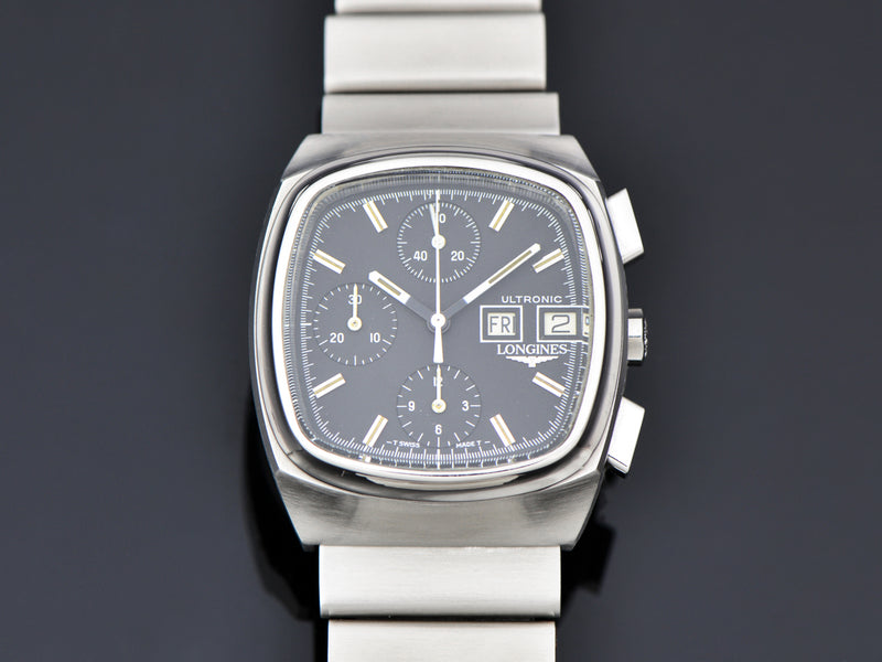Longines Ultronic Chronograph Day/Date Steel Watch & Bracelet