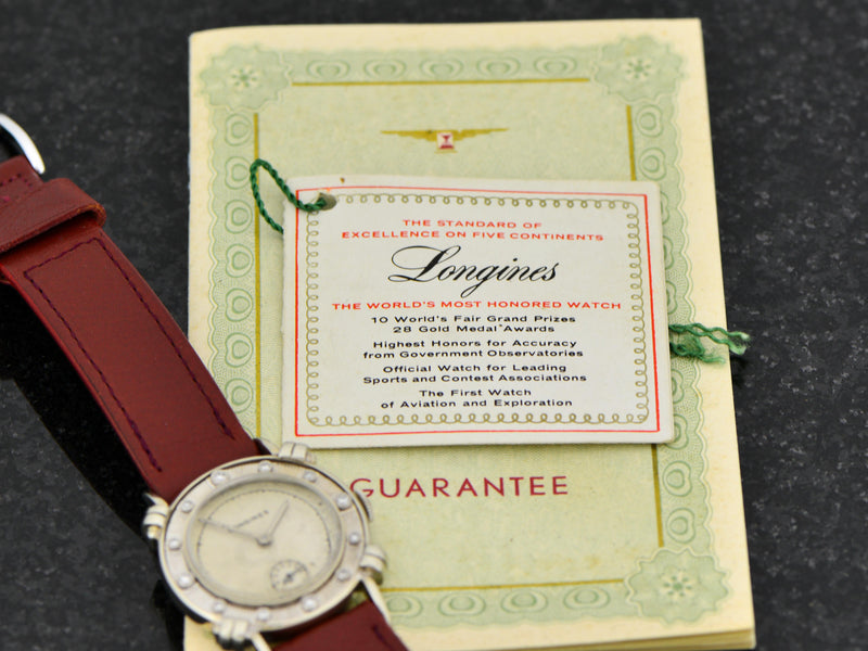 Longines 14K Diamond Dial Watch With Box