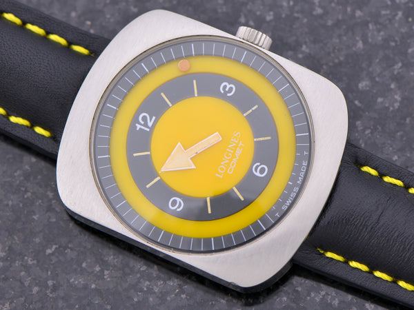 "Longines Comet ""Mystery Dial"" Watch Yellow Dial"