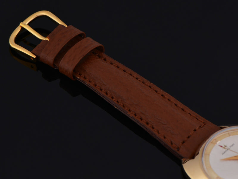 New DeBeer Genuine Leather Shark Grain Brown Watch Strap with matching Gold Tone Buckle