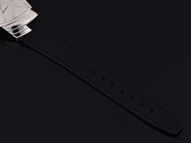 New Genuine Leather Black Calf Grain Watch Strap