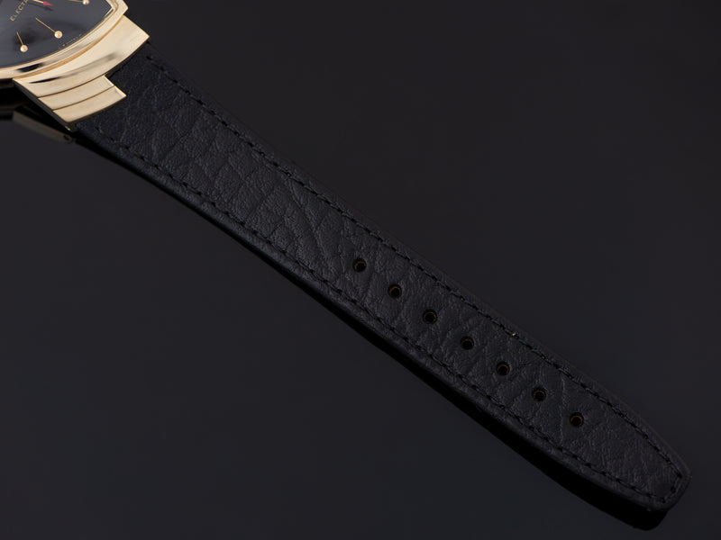 New Genuine Leather Black Watch Strap