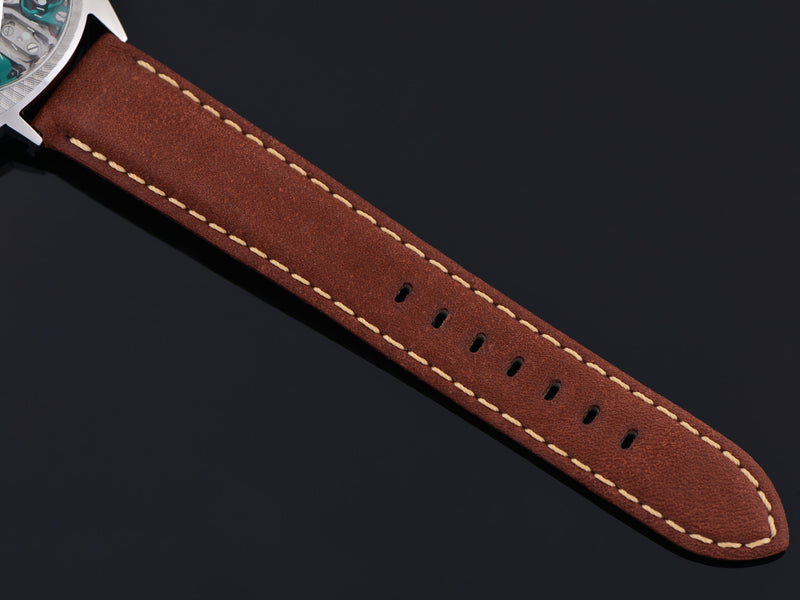 New Genuine Leather Brown Calf Watch Strap