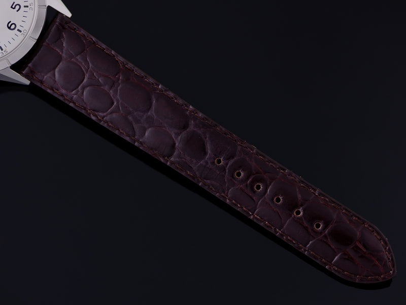 New Genuine Leather Brown Crocodile Grain Watch Strap