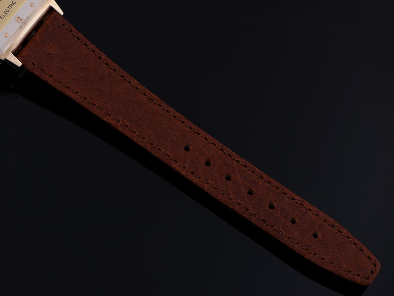 New Genuine Leather Buffalo Grain Brown Watch Strap