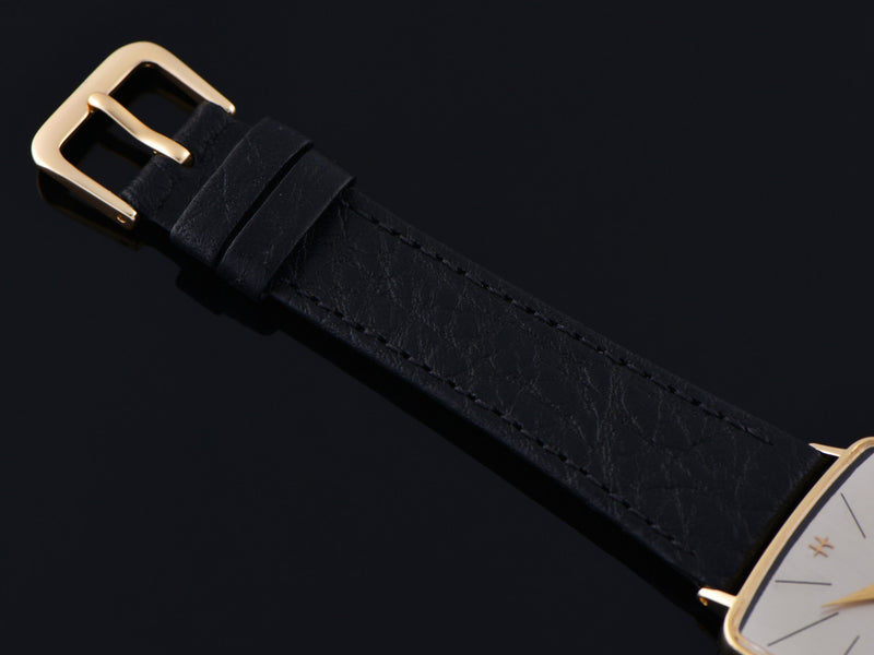 New Genuine Leather Calf Grain Watch Strap with Gold Tone Buckle