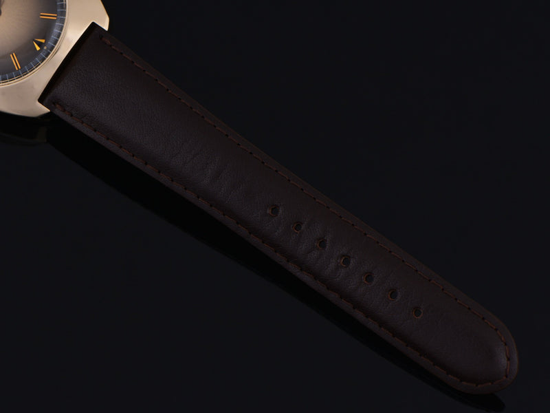 New Genuine Leather DeBeer Brown Watch Strap