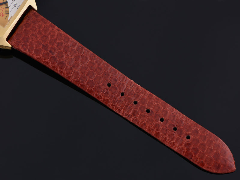 New Genuine Snake Skin Brown Watch Band