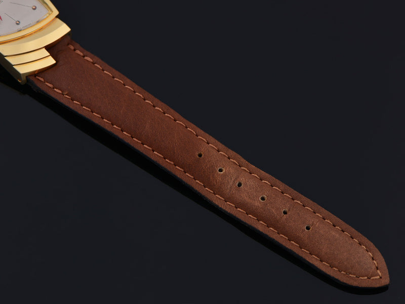 New Old Stock Genuine Leather Brown Hamilton Marked Watch Strap