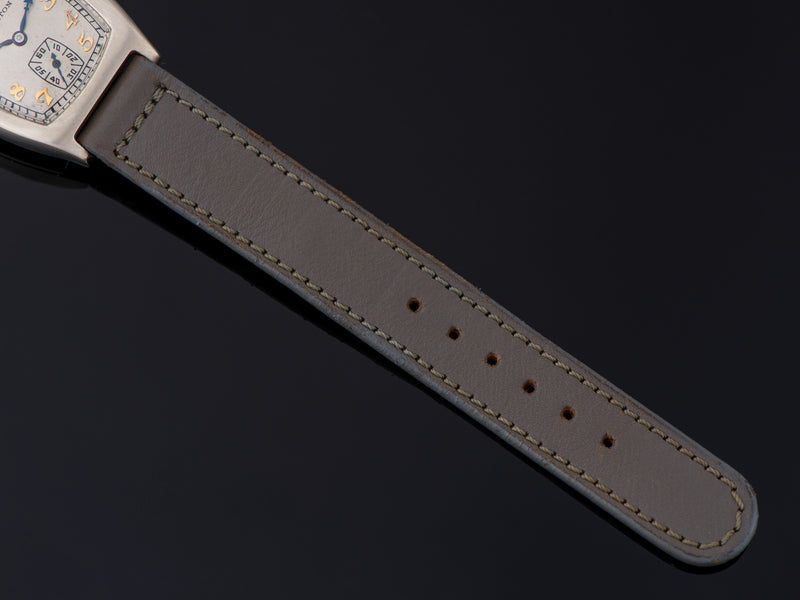 New Old Stock Period Correct Gray Calf Skin Watch Strap