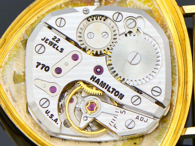 New Old Stock Hamilton Yellow Gold Filled Thor 770 Watch Movement | Vintage