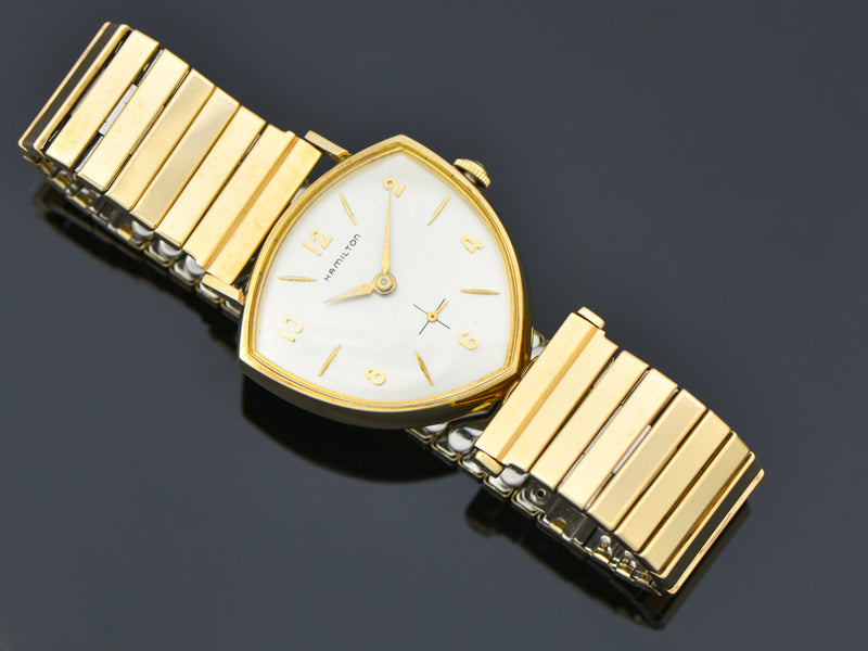 New Old Stock Hamilton Yellow Gold Filled Thor Watch & Original Watch Bracelet | Vintage