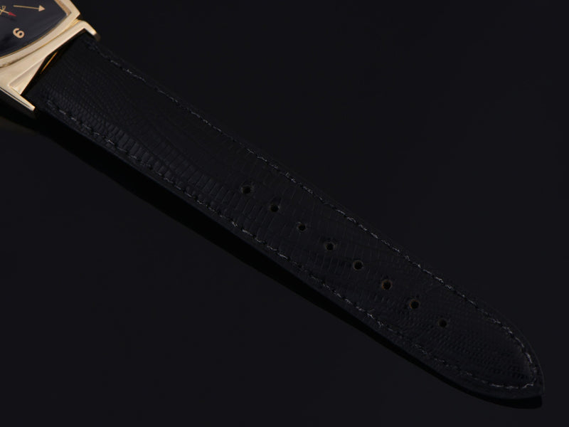 New Old Stock Hamilton signed Genuine Lizard Black Watch Strap