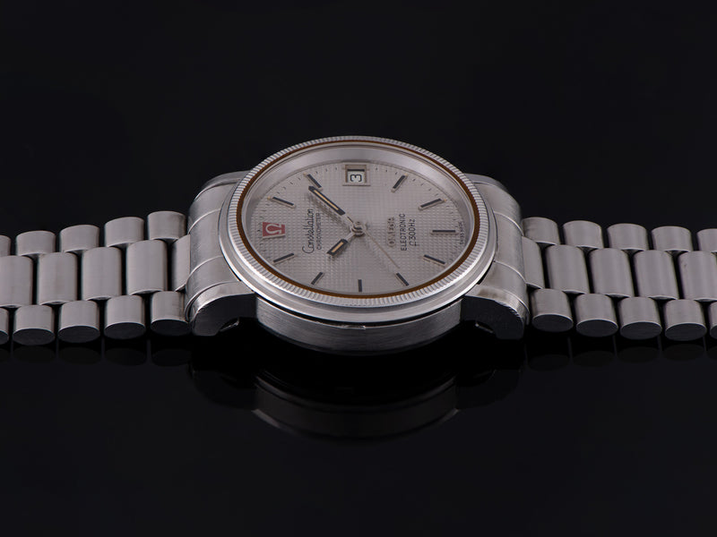 Omega Constellation Chronometer f300 Tuning Fork Steel Watch & Bracelet