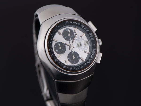 "Omega Speedsonic ""Lobster"" f300 Tuning Fork ESA9210 Chronograph Watch & Original Bracelet"