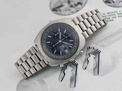 Omega Speedsonic f300 Tuning Fork ESA9210 Chronograph Watch & Original Bracelet