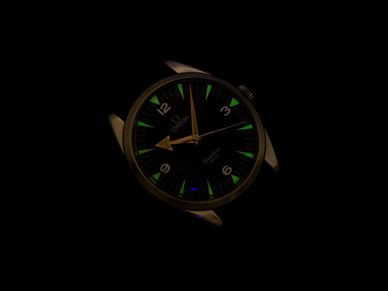 Omega Stainless Steel Watch With Refinished Ranchero Signed Dial Lume