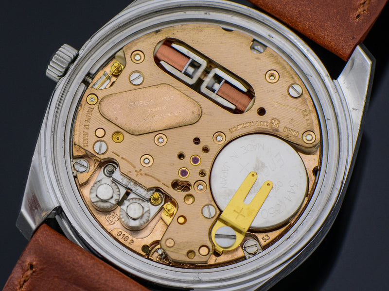 Omega Steel Chronometer f300 Tuning Fork Watch Movement | Vintage