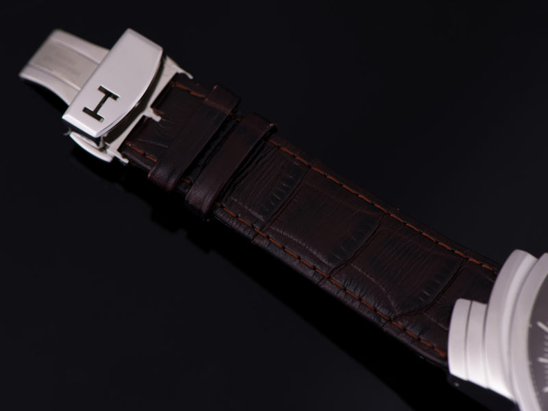 Original Hamilton marked Leather Watch Strap and Hamilton marked Steel Deployment Clasp