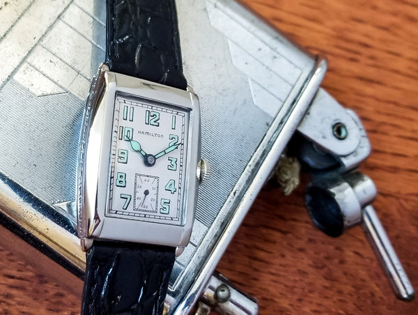 Hamilton Gladstone 14K White Gold Filled Watch