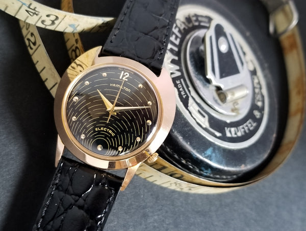 Hamilton Electric 18K Rose Gold Spectra Original Black Dial & 502 Movement