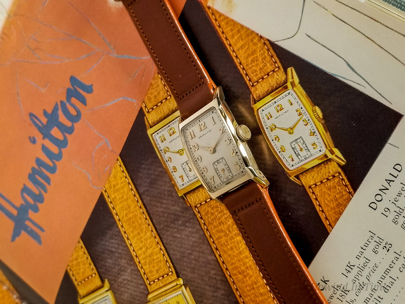Hamilton 14K Solid Gold Donald Vintage Watch