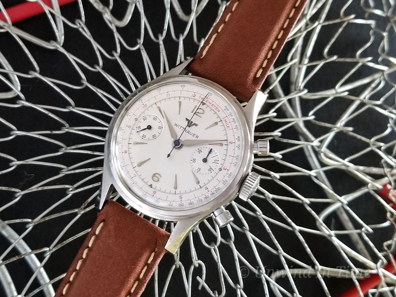Wittnauer Stainless Steel Chronograph Ref. 3256 Landeron 148 14Y