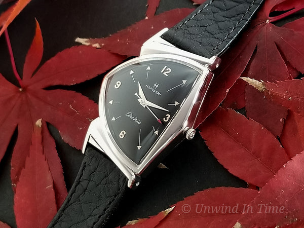 Hamilton Electric Custom Rhodium Black Pacer