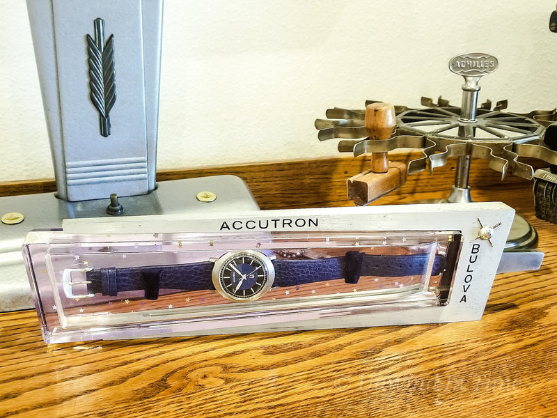 Accutron Plexiglass/Metal Display Box from Unwind In Time
