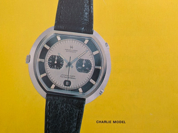 "Hamilton Fontainebleau Chrono-Matic ""C"" Caliber 11 Automatic Panda Watch Ad"