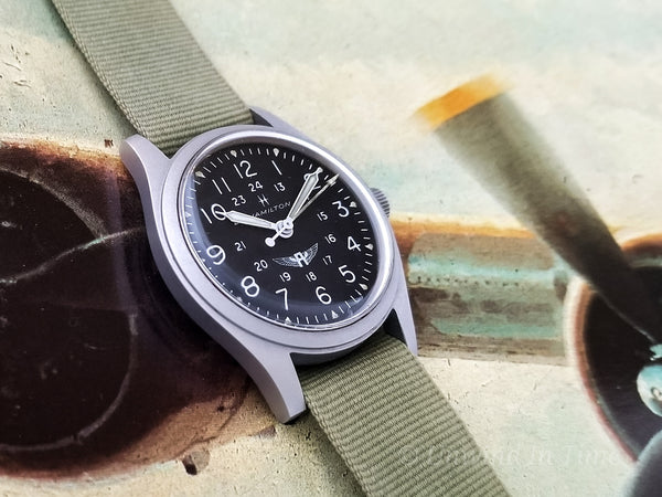Hamilton Avirex Branded 9219 Hacking Khaki Field Vintage Watch