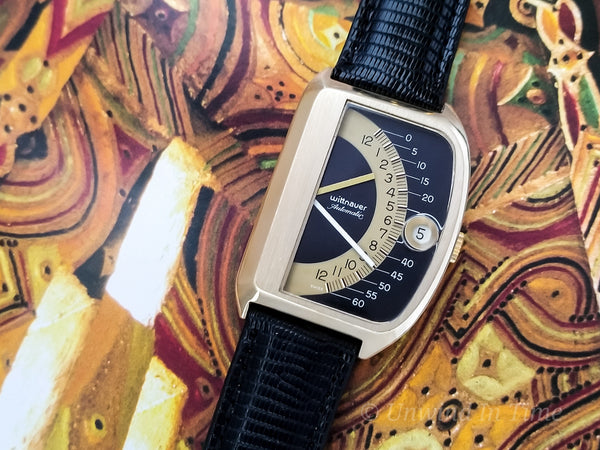 Wittnauer Futurama Black Dial Vintage Watch