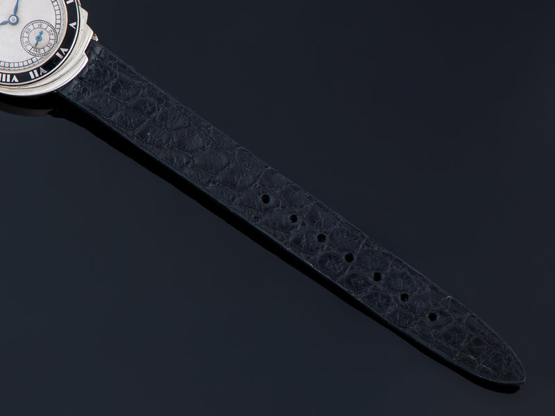 Superb custom made Genuine Crocodile black strap, Made By Stone Creek
