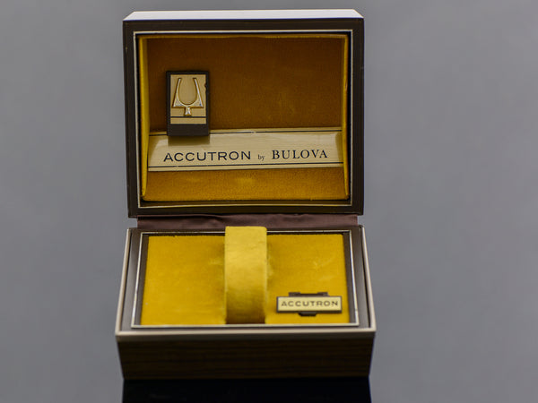 Bulova Accutron Wood Grain Vintage Watch Box
