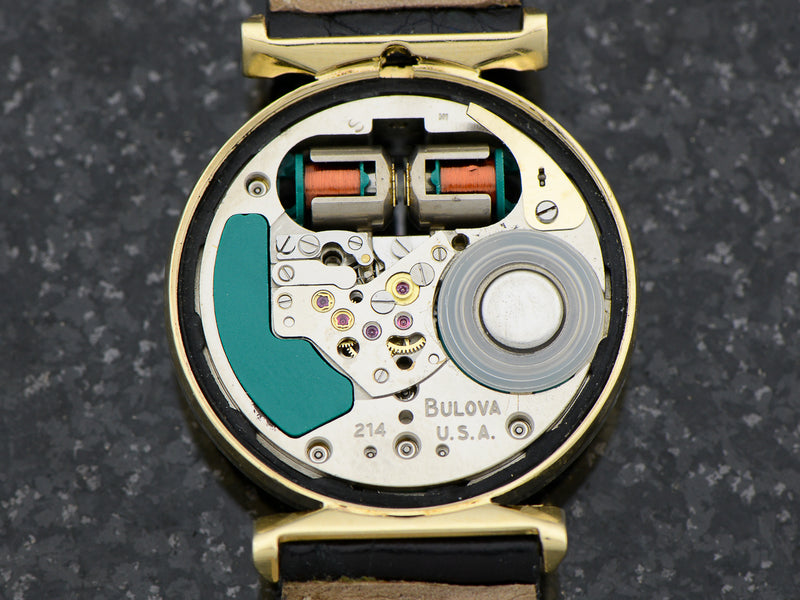 Bulova Accutron 14K Yellow Gold Floating Lugs Spaceview Watch Movement