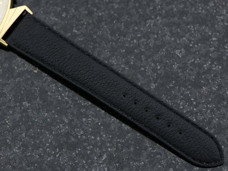 Brand New Genuine Leather Black Buffalo Grain Band with matching gold tone buckle