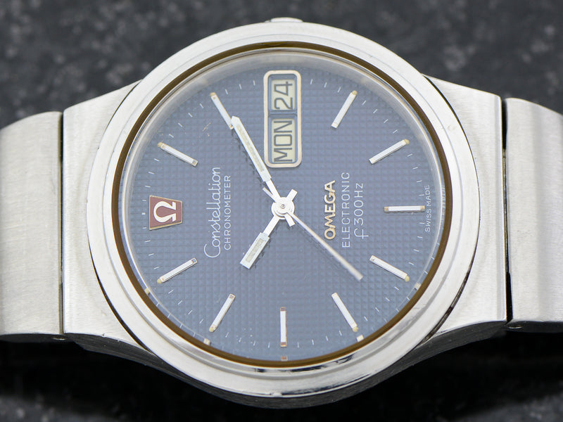 Omega Steel Constellation Chronometer f300 Tuning Fork & Bracelet