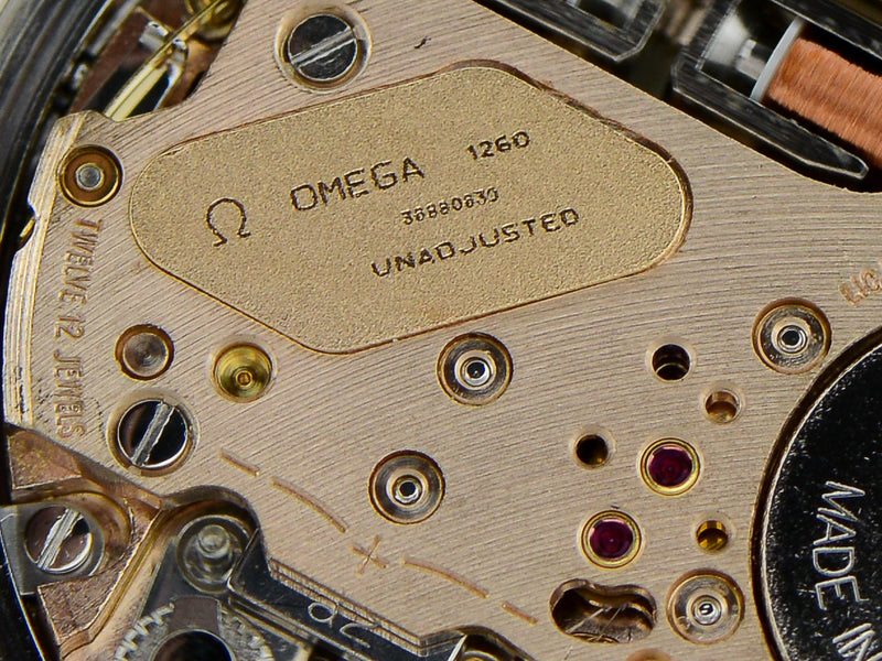 Omega Steel Constellation Chronometer f300 Tuning Fork Movement Close Up
