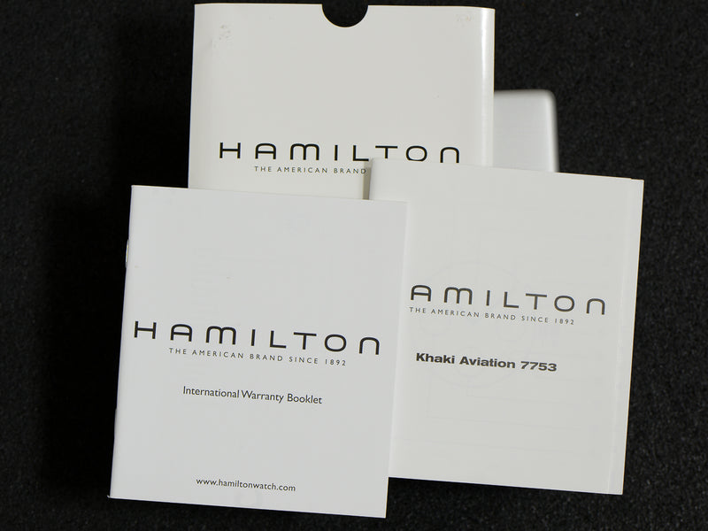 Hamilton Khaki Aviation Quartz Chronograph Watch Box