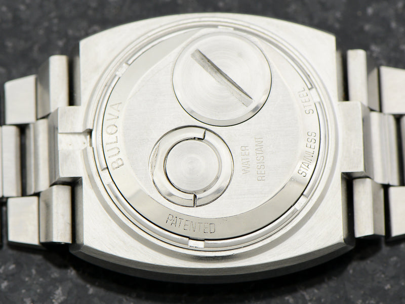 "Bulova Accutron Spaceview Double Cushion ""T"" Steel With Original Bracelet"
