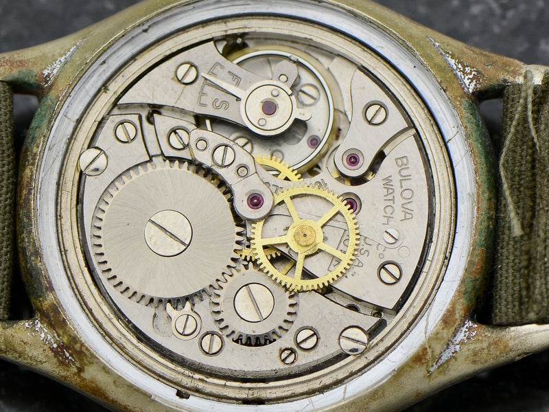 Bulova A-11 Air Force World War II Military Hacking Vintage Watch Movement
