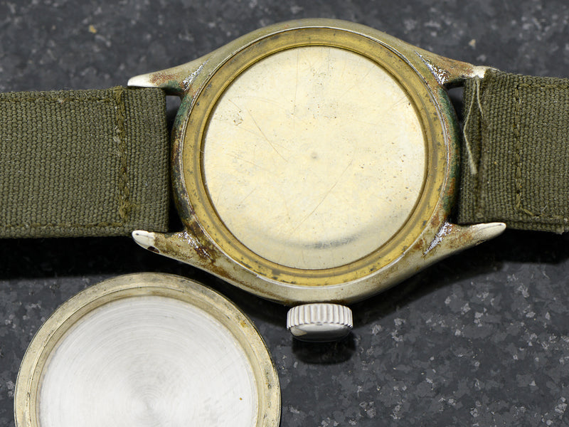 Bulova A-11 Air Force World War II Military Hacking Vintage Watch Case Back