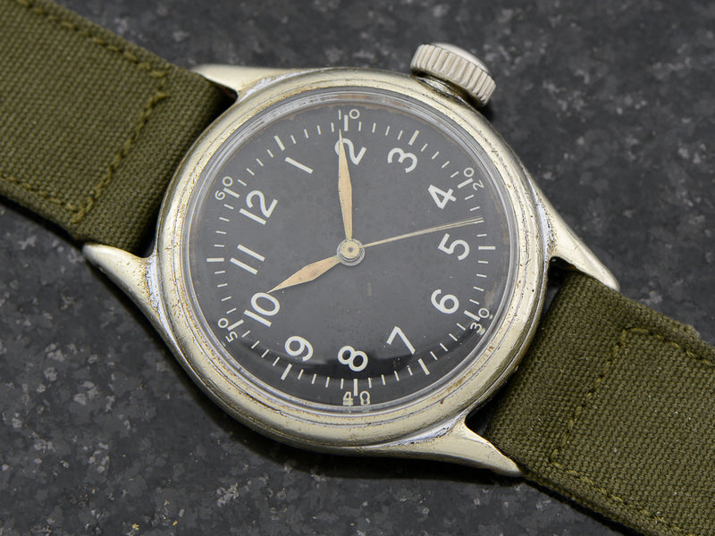 Bulova A-11 Air Force World War II Military Hacking Vintage Watch
